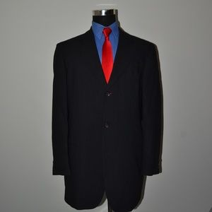 Hugo Boss 42L Sport Coat Blazer Suit Jacket Black